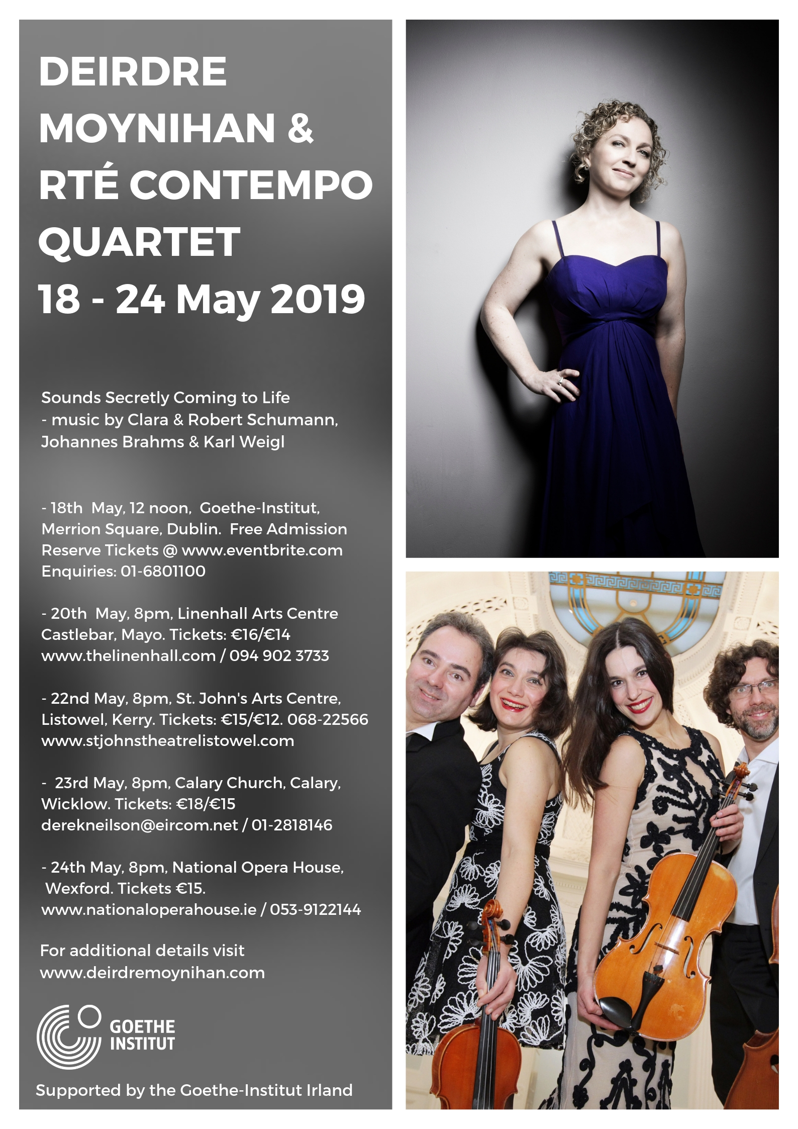 May 2019 tour - Deirdre Moynihan  RTE Contempo Quartet